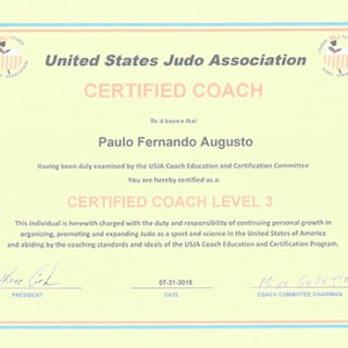 2nd Degree Black Belt Certification by FPJJ - Sao Paulo
