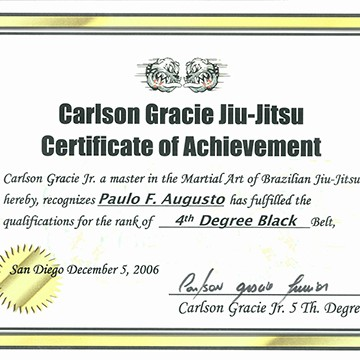 4th Degree Black Belt Certification
