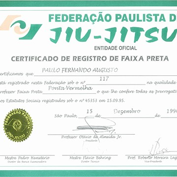 Black Belt Certification by FPJJ - Sao Paulo